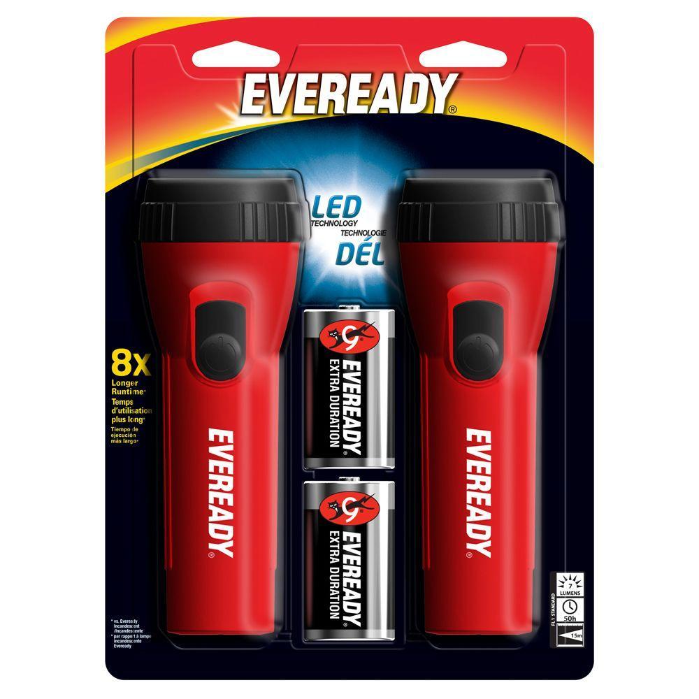 Eveready LED Economy Flashlight (2-Pack)