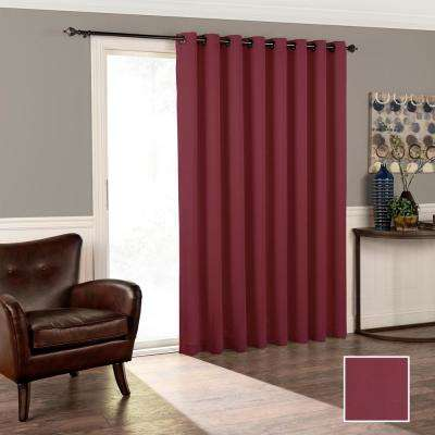 Tricia 84 in. L Polyester Curtain in Sangria