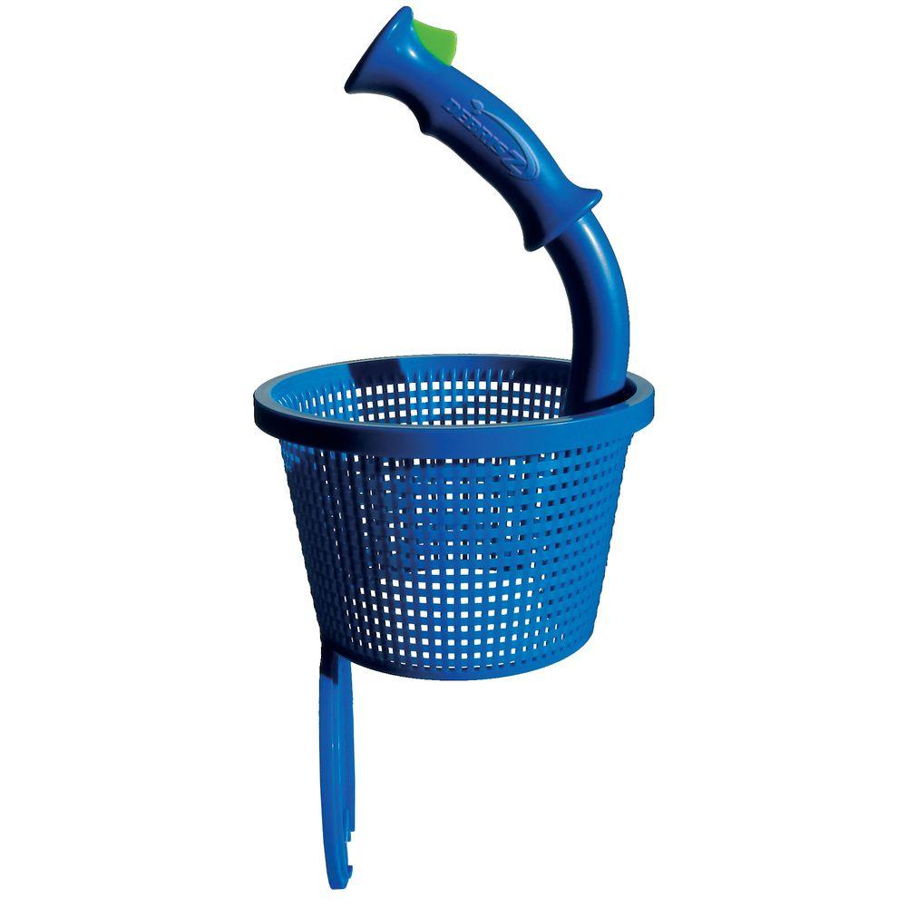 Debris Z Quick Release Pool Skimmer Basket with Handle