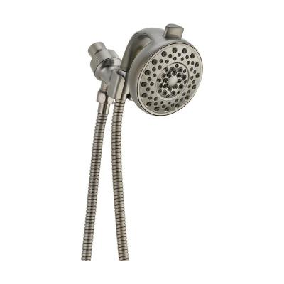 Palm 4-Spray 4.1 in. Single Wall Mount Handheld Shower Head in Stainless