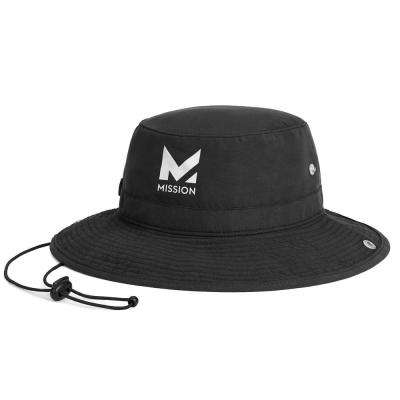 Mission HydroActive Max Cooling Towel and Hat Navy Hat Set