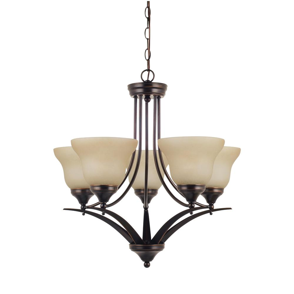 Brockton 5-Light Burnt Sienna Chandelier