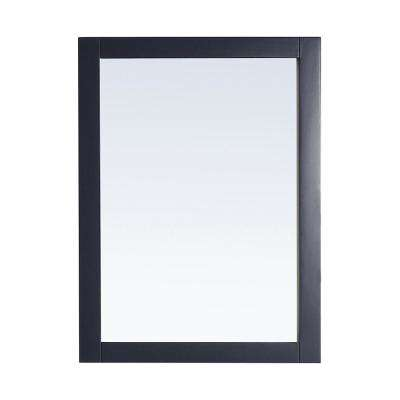 Lincoln 30 in. W x 22 in. H Single Framed Wall Mount Mirror in Midnight Blue
