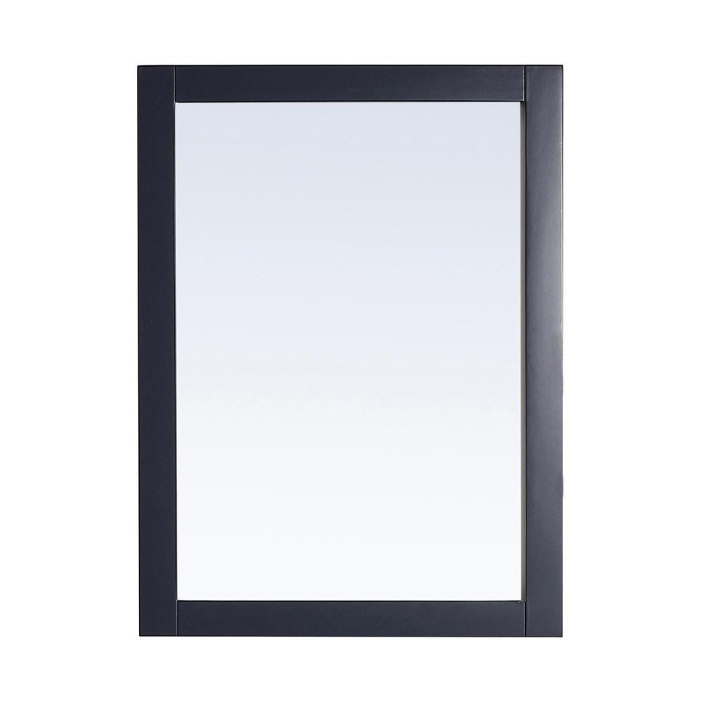 30.00 in. W x 22.00 in. H Framed Rectangular  Bathroom Vanity Mirror in Midnight Blue