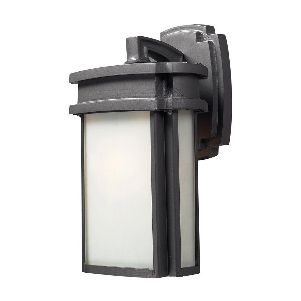 Titan Lighting Sedona 1-Light Outdoor Chrome Sconce