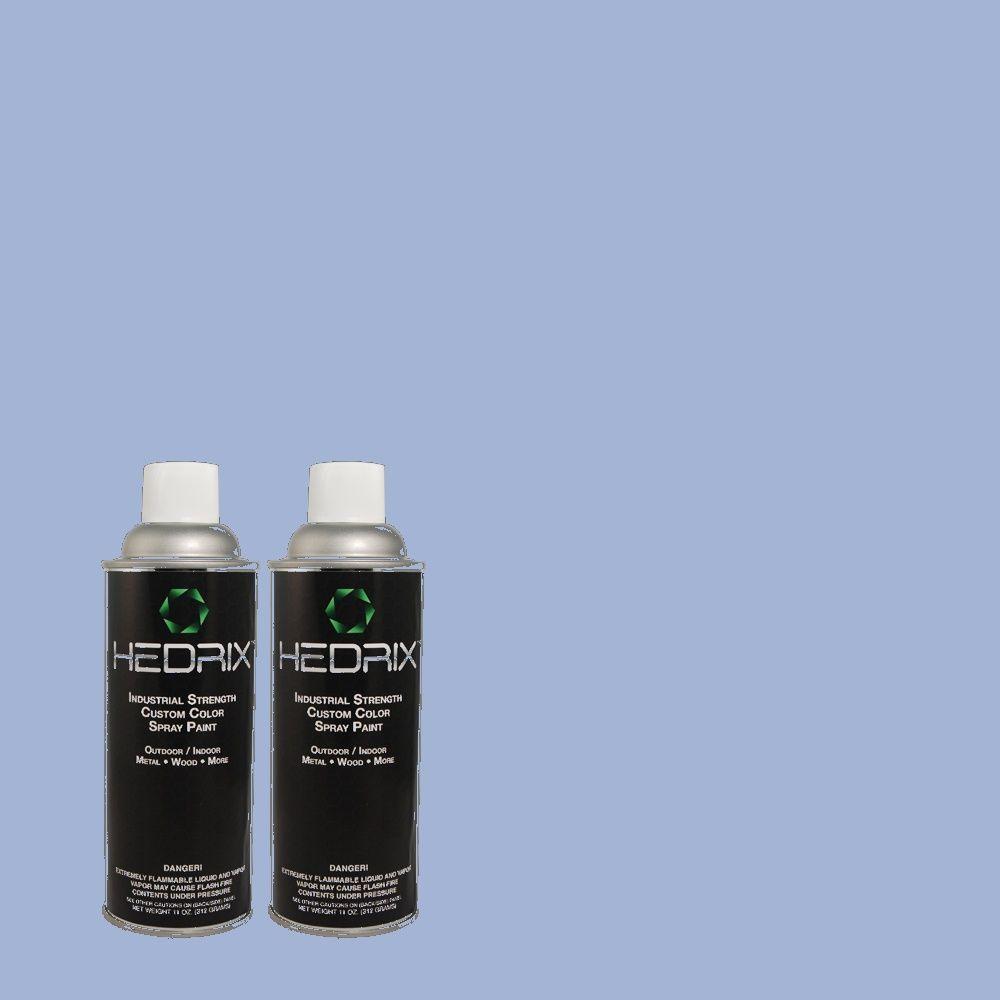 Hedrix 11 oz. Match of PPU15-12 Bluebird Semi-Gloss Custom Spray Paint (2-Pack)