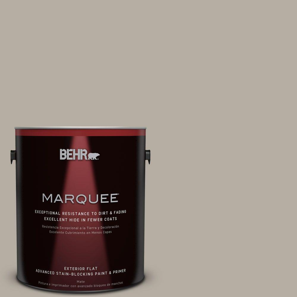 BEHR MARQUEE 1-gal. #PPU18-13 Perfect Taupe Flat Exterior Paint