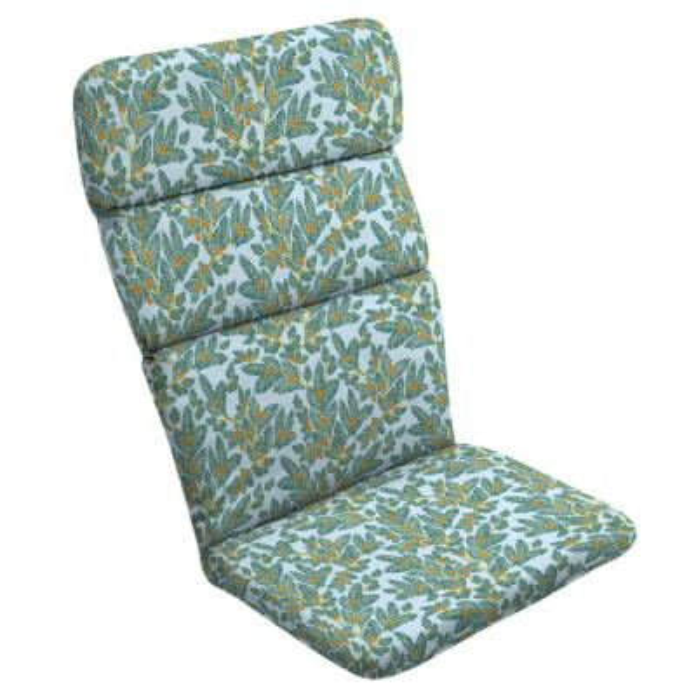 Artisans 45.5 x 20 Eugene Leaf Outdoor Adirondack Chair Cushion