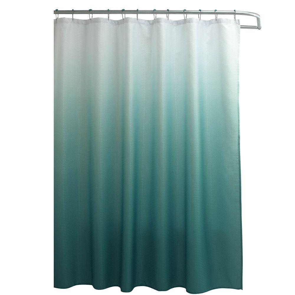 Creative Home Ideas Ombre Waffle Weave 70 In W X 72 L Shower
