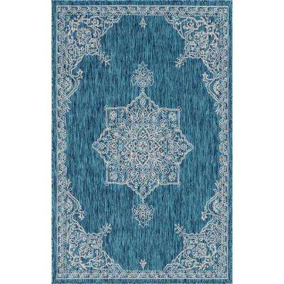 Teal Antique Outdoor 6 Ft X 8 Area Rug