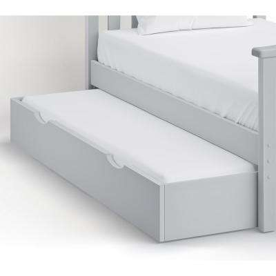 Under Bed 74 in. W Dove Gray Pull Out Trundle Drawer