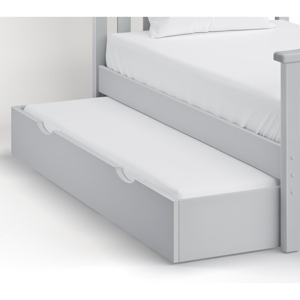Under Bed 74 in. W Dove Gray Pull Out Trundle Drawer 9910857   The
