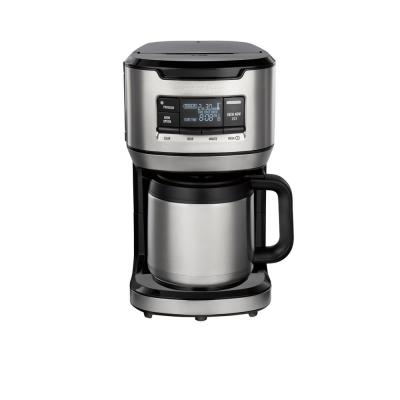 12-Cup Black Programmable Front-Fill Coffee Maker with Thermal Carafe