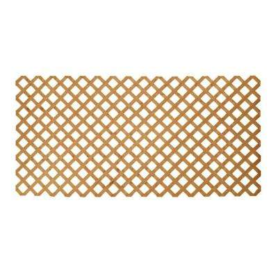 3/4 in. x 48 in. x 8 ft. Southern Yellow Pine Weather Shield Cedar-Tone Pressure-Treated Wood Lattice
