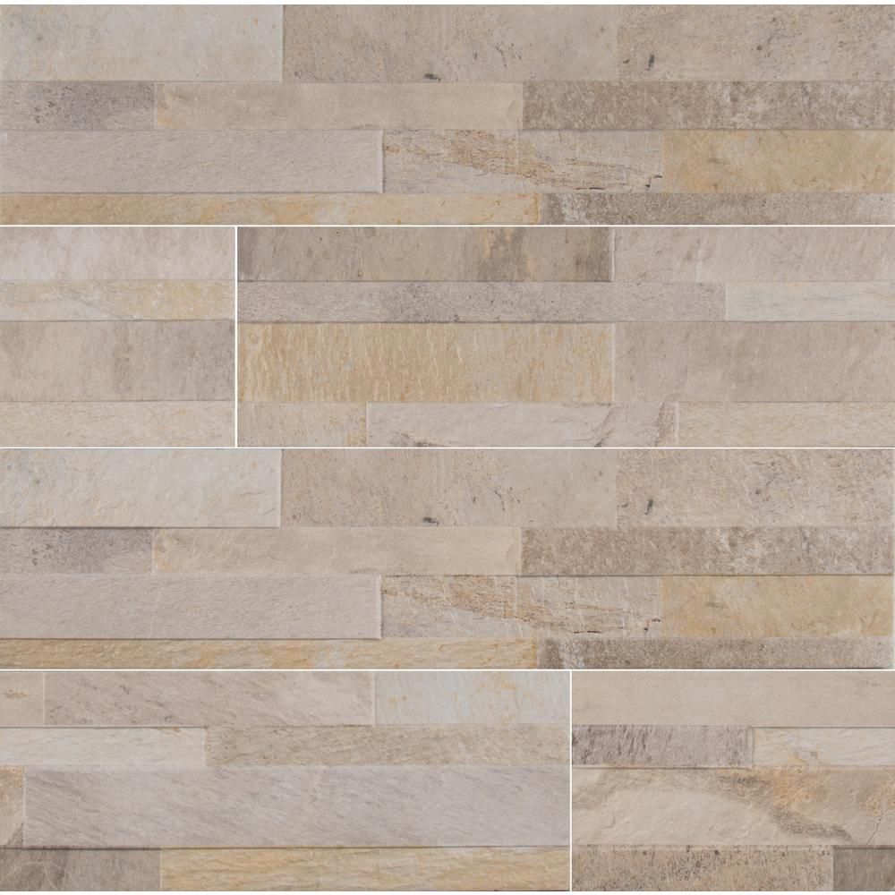 MSI Canyon Cream Ledger Panel 6 in. x 24 in. Matte Porcelain Wall Tile (11 sq. ft. / case)