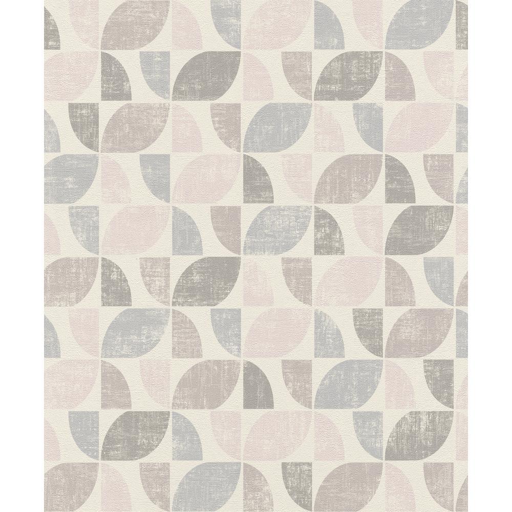 8 in. x 10 in. Dorwin Multicolor Geometric Wallpaper Sample