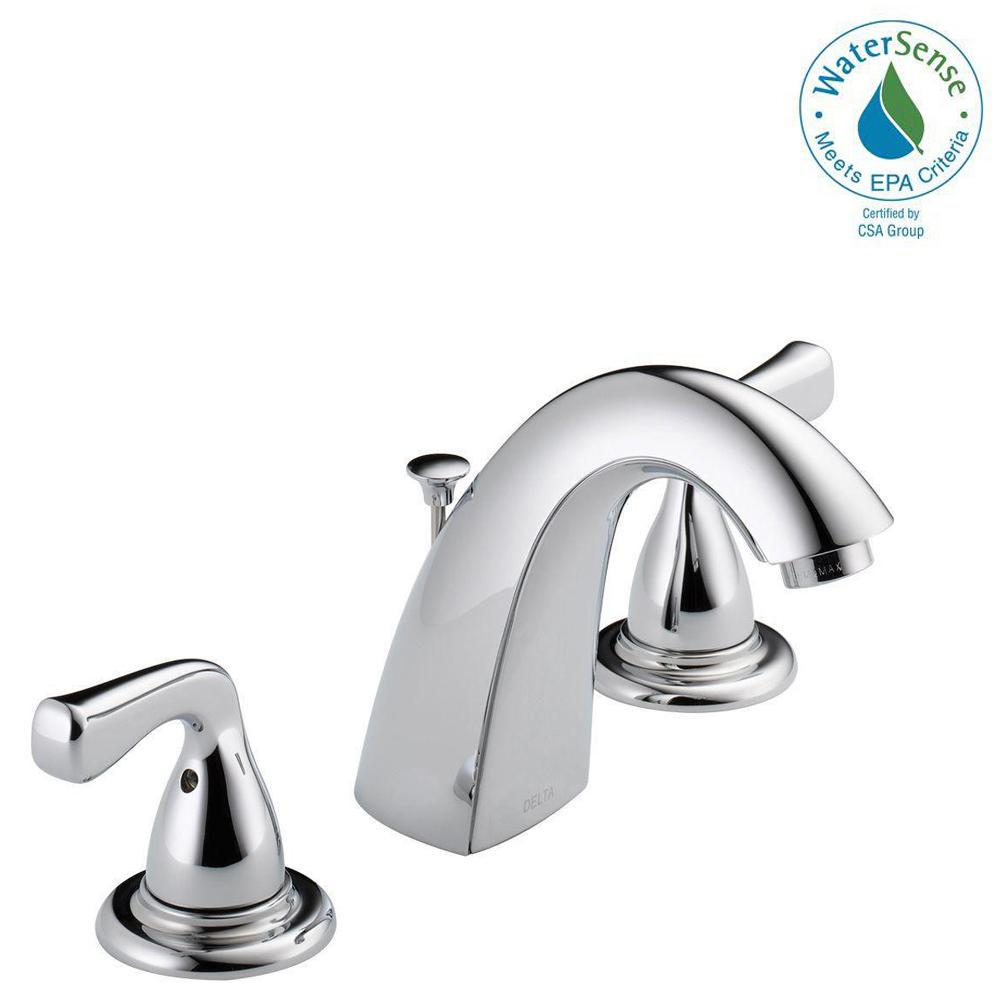 widespread 2handle bathroom faucet in chrome