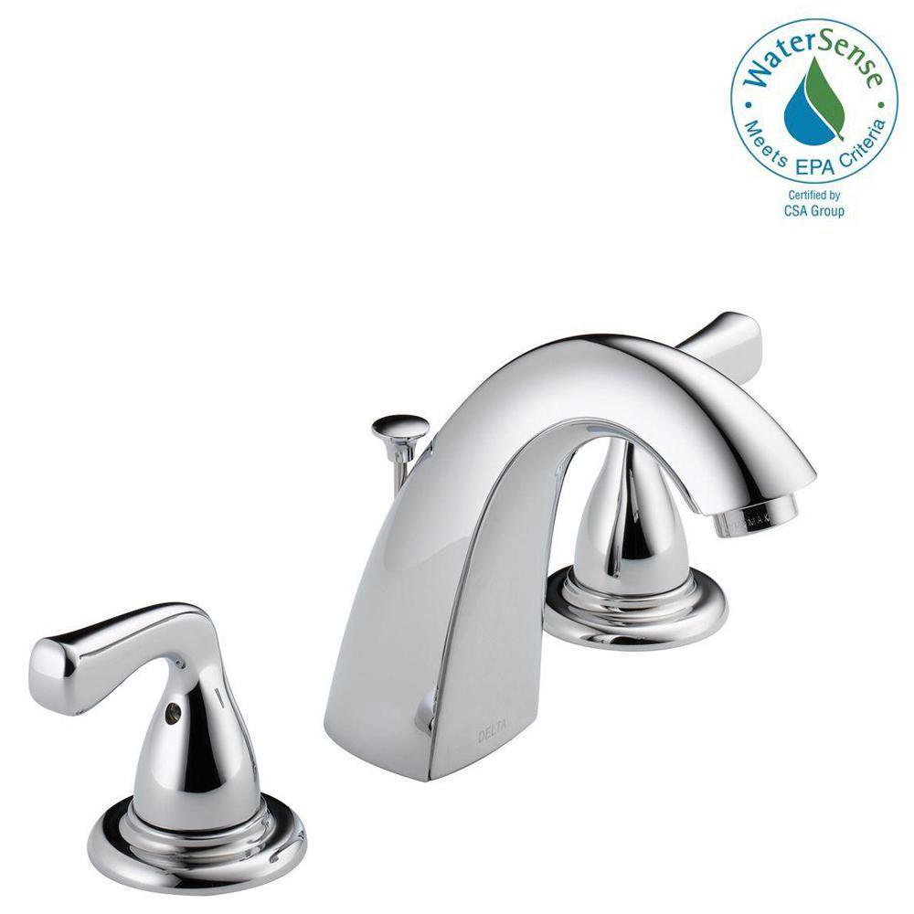 Delta Foundations 8 inch Widespread 2-Handle Bathroom Faucet in Chrome by Delta