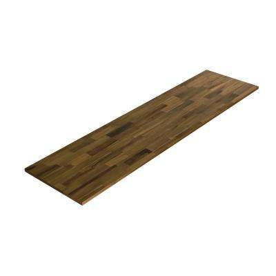 8 ft. L x 2 ft. 1.5 in. D x 1.5 in. T Butcher Block Countertop in Brown Stained Acacia