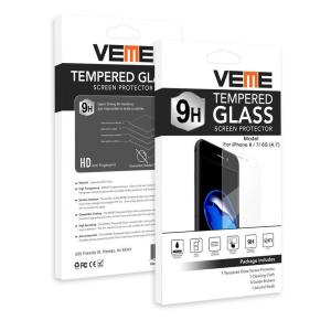 VEME Tempered Glass Screen Protector for Apple iPhone 8, 7, 6s (4.7)