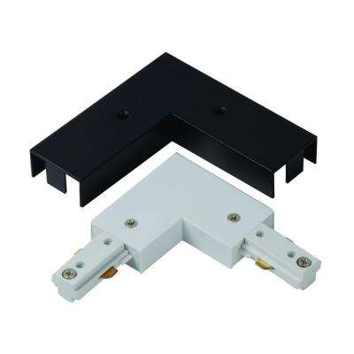 Linear Track 90 Degree Connector with White and Black Covers
