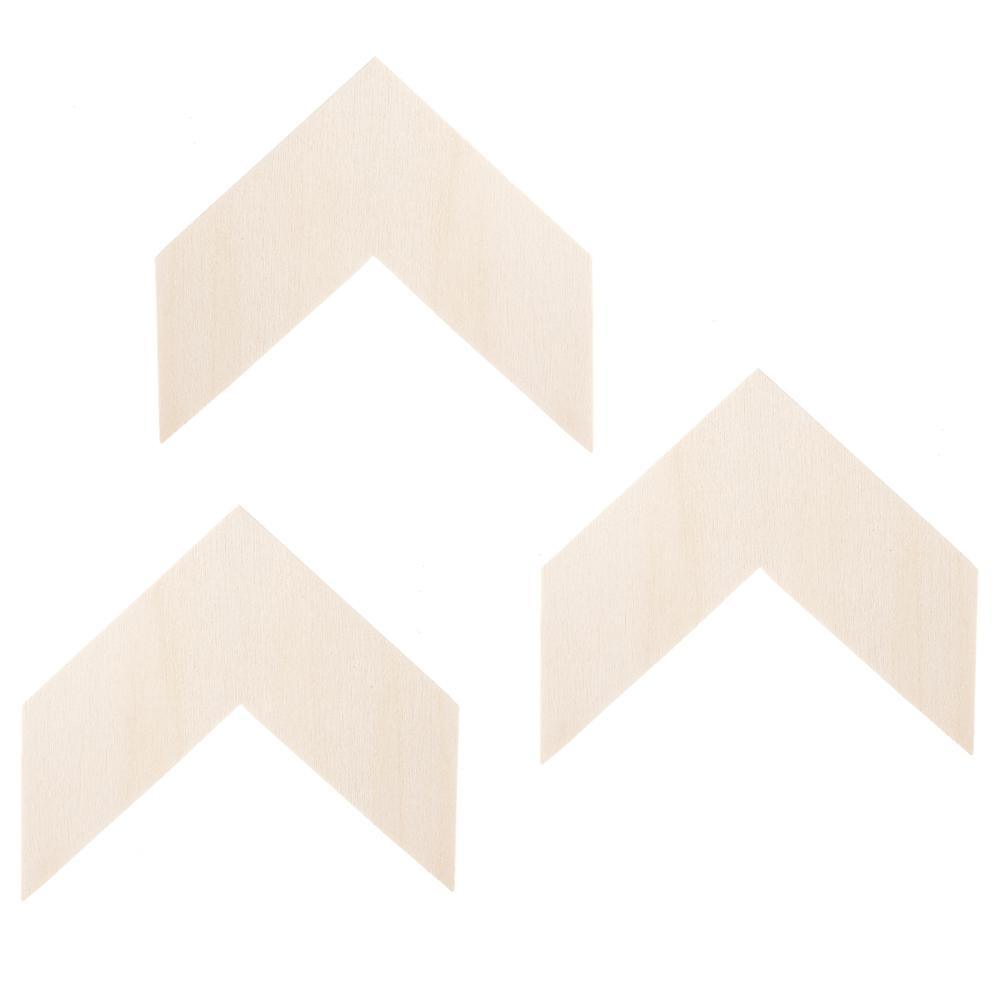 Chevron Shapes in Unfinished Wood