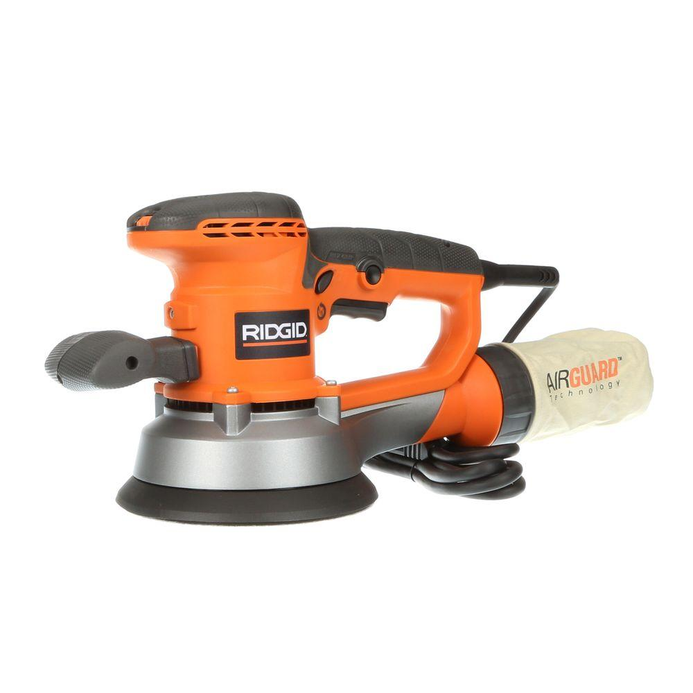RIDGID 6 in. Variable-Speed Dual Random Orbital Sander ...