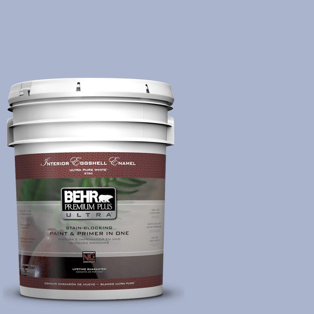 BEHR Premium Plus Ultra 5-gal. #PPU15-14 Ballroom Blue Eggshell Enamel Interior Paint