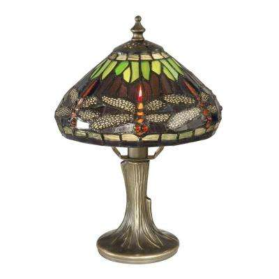 Charming Dragonfly Antique Bronze Table Lamp