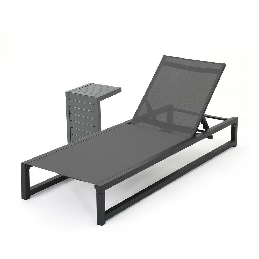 Modesta Black 2-Piece Aluminum Patio Conversation Seating Set