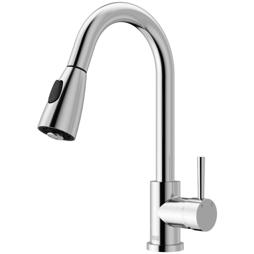 Vigo Chrome Pull Down Spray Kitchen Faucet