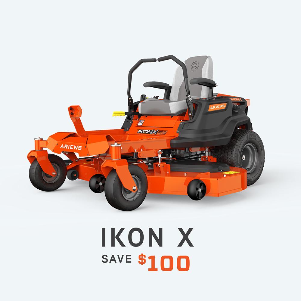 IKON X 52 in. 23 HP Kawasaki Gas Hydrostatic Zero-Turn Riding Mower