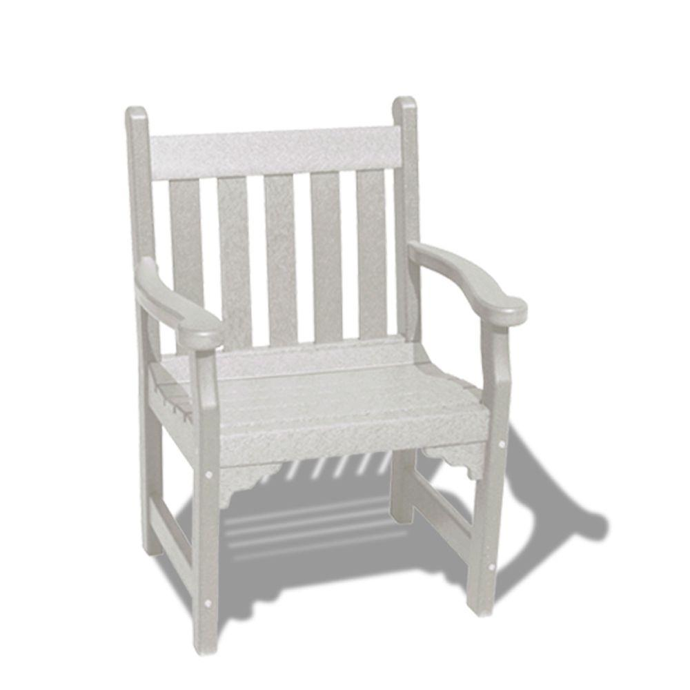 Vifah Roch Recycled Plastic Patio Armchair in White-DISCONTINUED