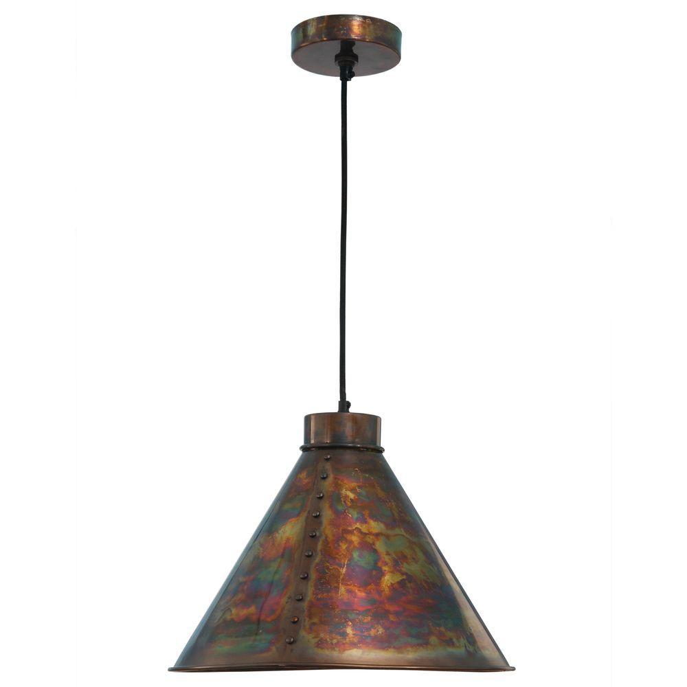 100 hammered copper pendant light awesome hand blown glass