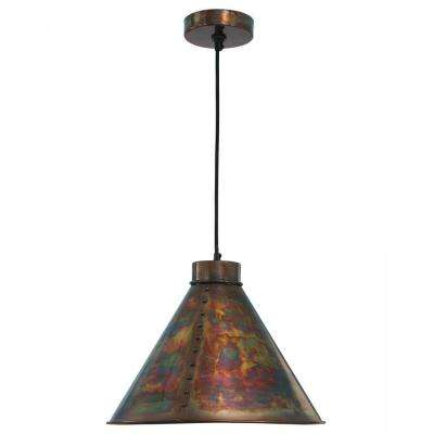 Cuprum 1-Light Flamed Copper Pendant