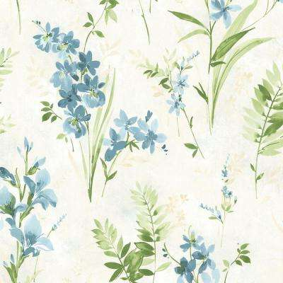 Driselle Teal Floral Wallpaper