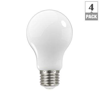 60-Watt Equivalent A19 Dimmable Frosted Filament LED Light Bulb, Daylight (4-Pack)