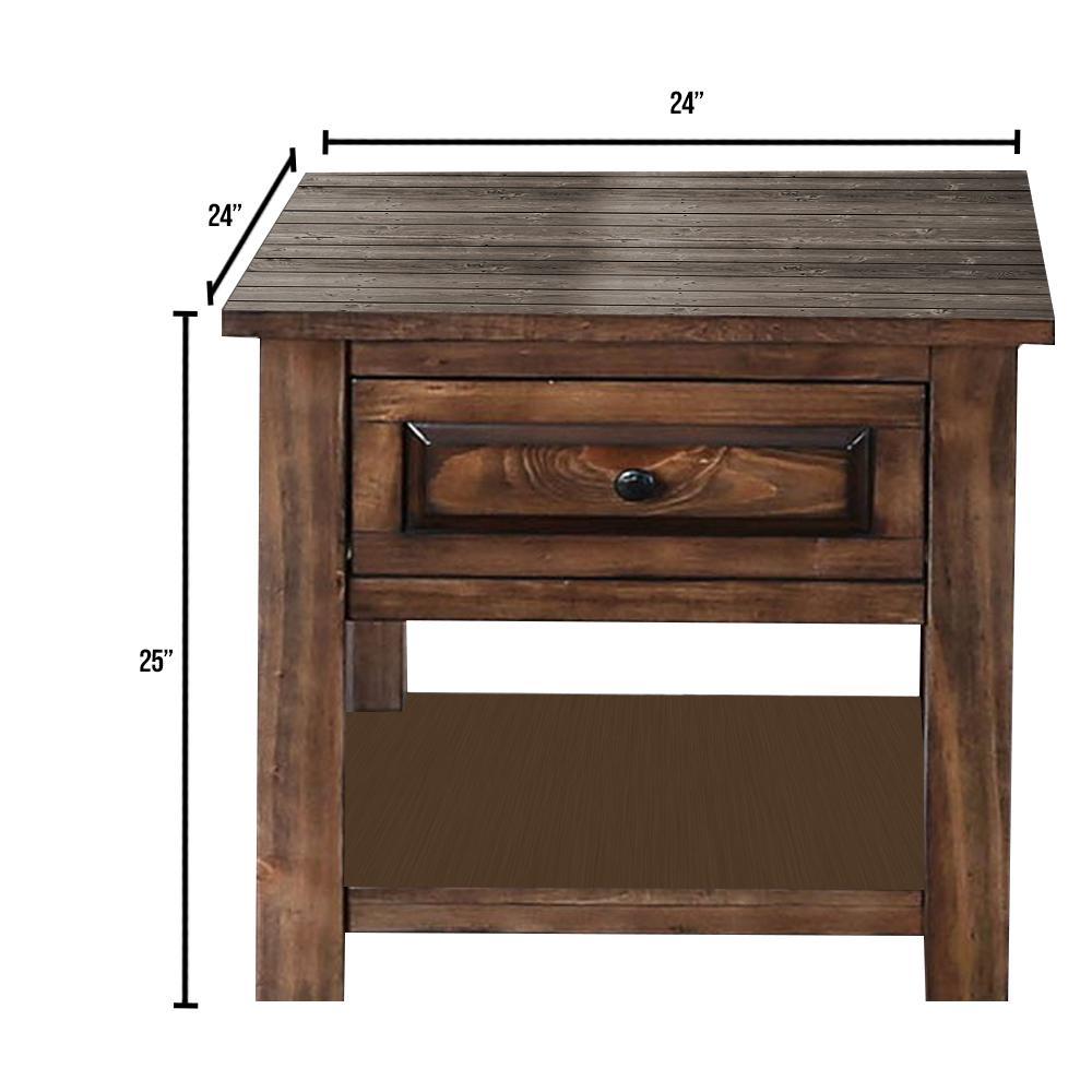 Annabel Walnut End Table