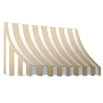 5 ft. Nantucket Awning (31 in. H x 24 in. D) in Tan/White Stripe
