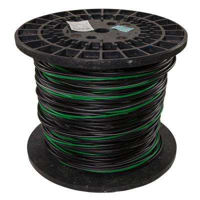 500 ft. 4/0-4/0-2/0-4 Black Stranded AL MHF USE-2 Cable