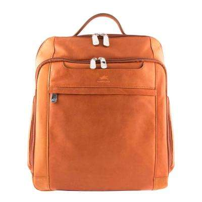 15.6 in. Cognac Backpack with RFID Secure Pocket for Laptop and Tablet