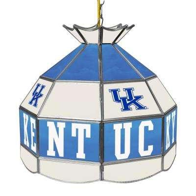 University of Kentucky White Hanging Tiffany Style Lamp