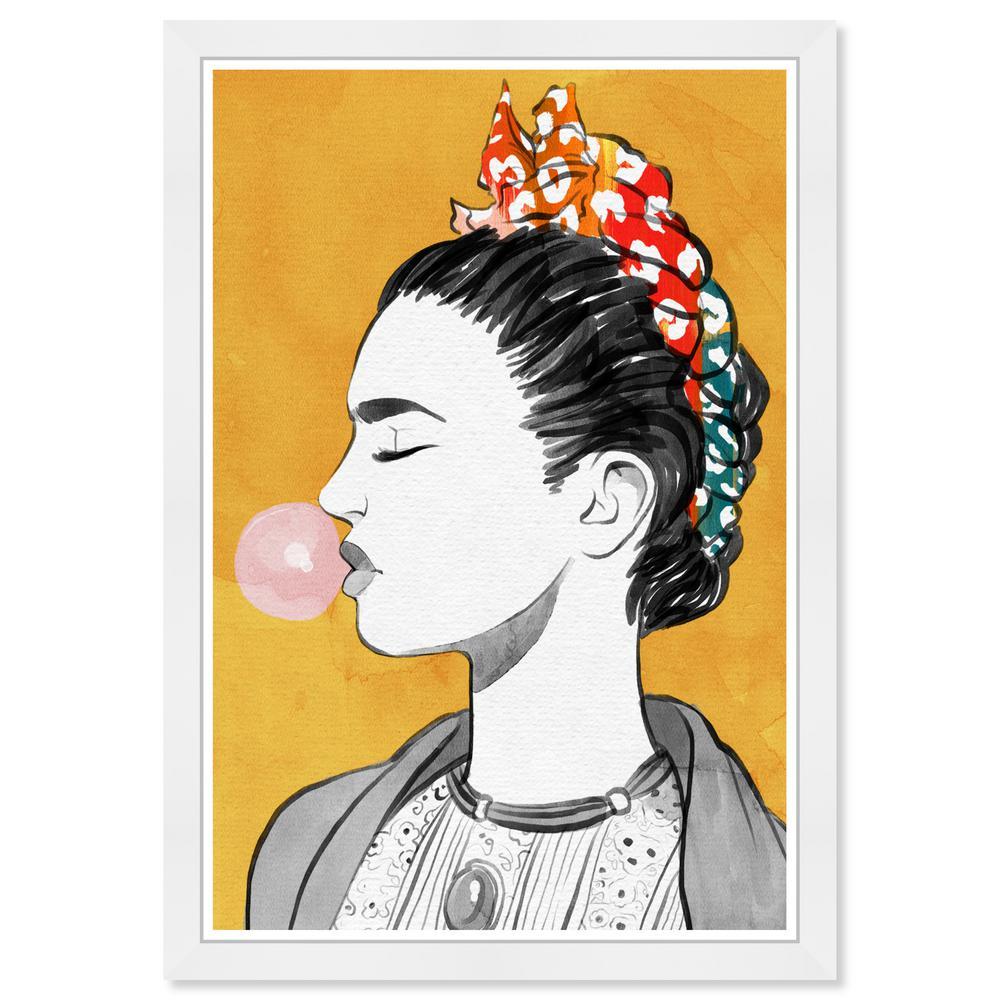 Lat in a Bubble Popper' by Wynwood Studio Framed People Art Print 19 in. x 13 in.