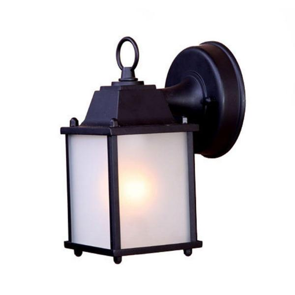 Builder's Choice Collection 1-Light Matte Black Outdoor Wall Lantern Sconce