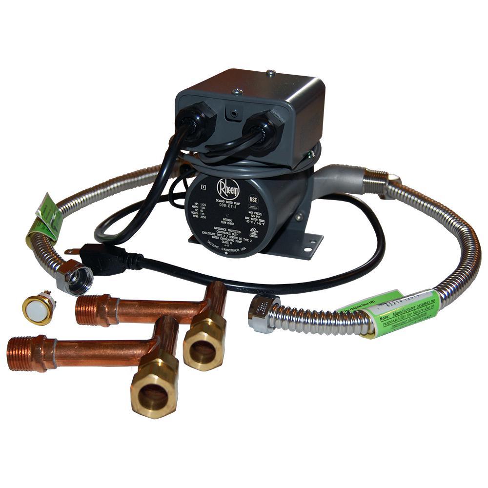 Rheem 1/25 HP Hot Water Recirculating Pump with Under Sink Kit