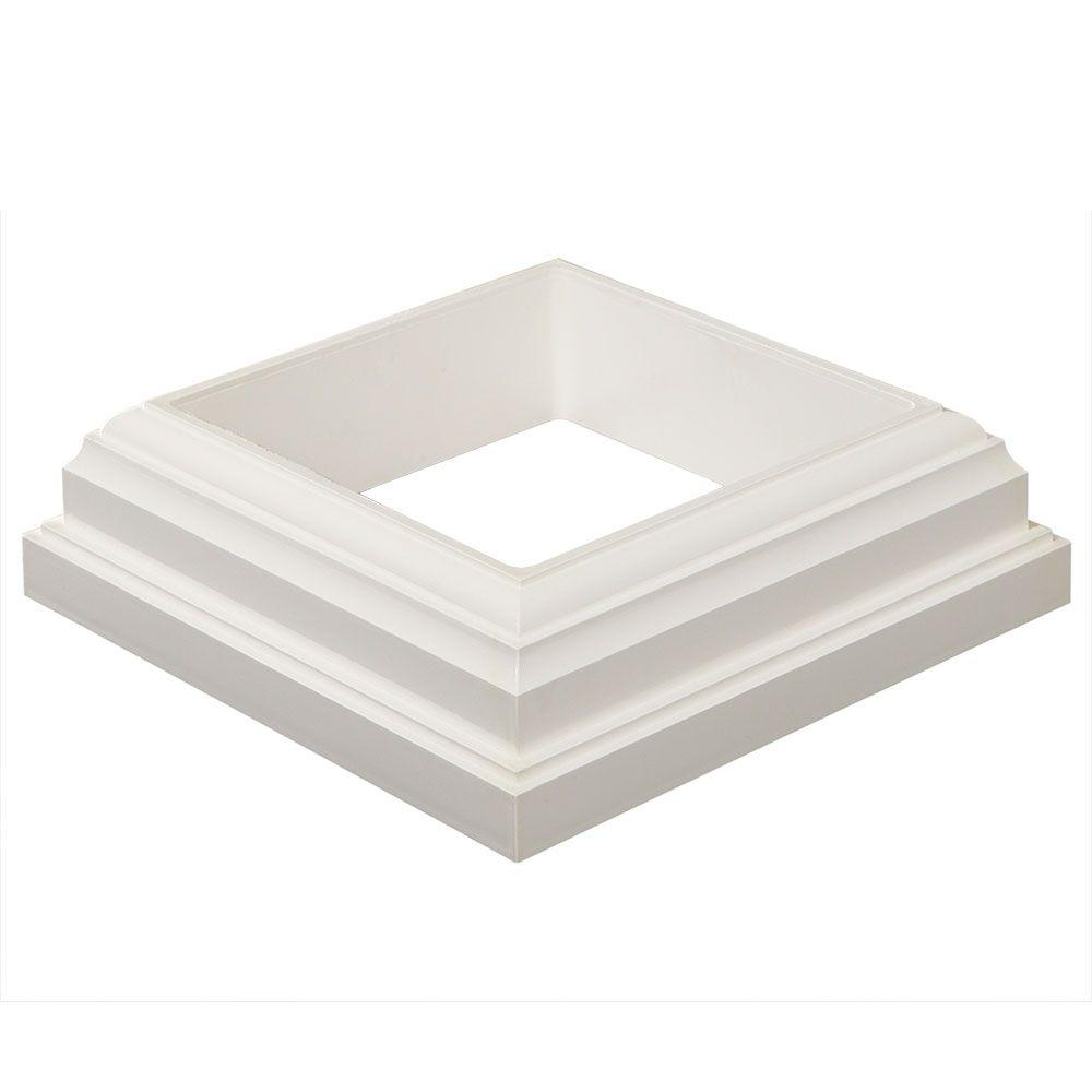 Fiberon Horizon 4 in. x 4 in. White PVC Post Sleeve Base Moulding