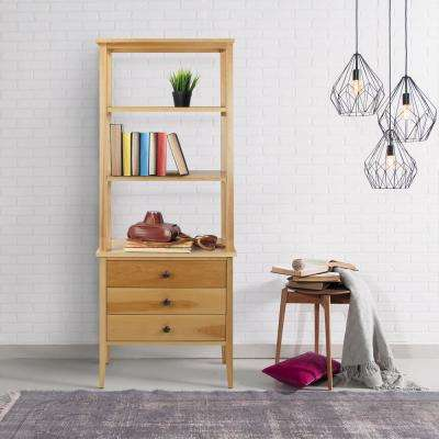Edison Natural Maple 3-Shelf Bookcase