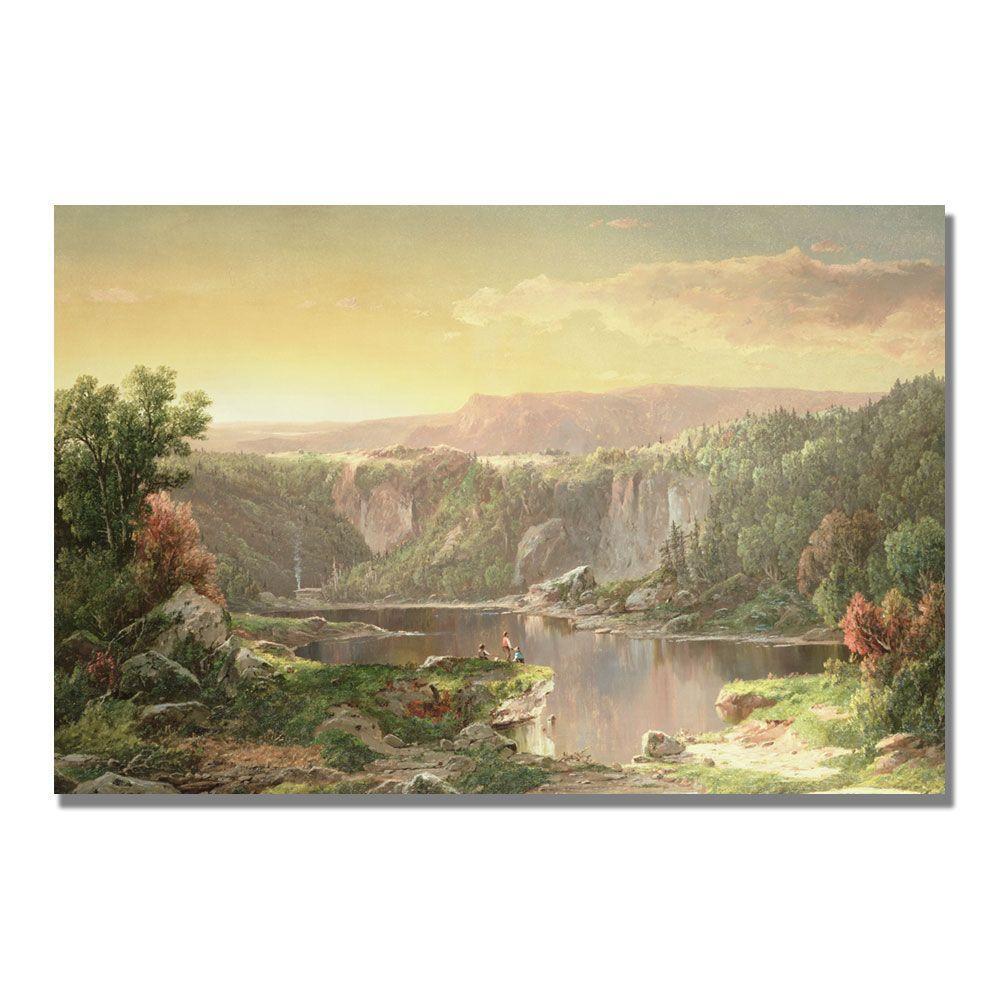 22 in. x 32 in. Mountain Lake near Piedmont Canvas Art