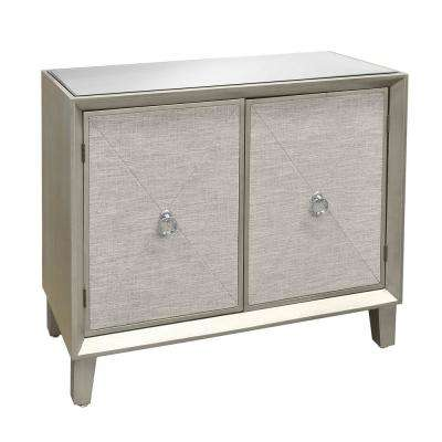 32 in. Champagne 2-Doors Wood Cabinet