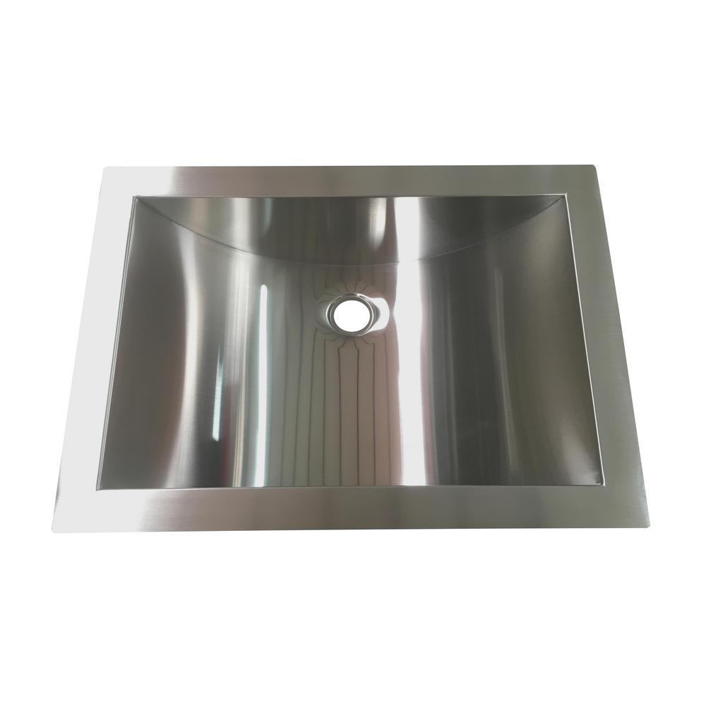 Undermount Bathroom Sink In Stainless Steel